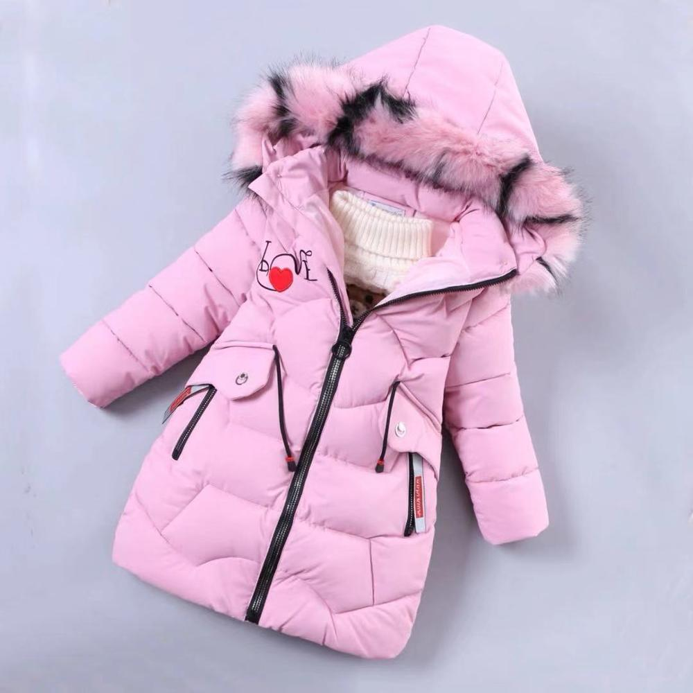 Image 3 - Girls Down Jackets Baby Outdoor Warm Clothing Thick Coats Windproof Children's Winter Jackets Kids Colourf Fur Collar Outerwear-in Down & Parkas from Mother & Kids