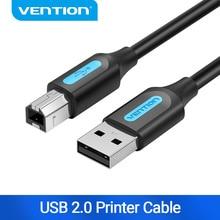Cavo stampante USB 2.0 Vention USB 2.0 tipo A maschio A B maschio sincronizzazione Scanner dati cavo stampante 1m 2m per stampante HP Canon Epson USB