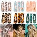 Neue 3 Teile/satz Mode Leopard Acetat Geometrische Haar Clips Für Frauen Mädchen Stirnband Süße Haarnadeln Barrettes Haar Zubehör Set