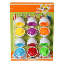 6 Pcs Color Matching Egg Set Toys Color Recognition Skills Learning Toy