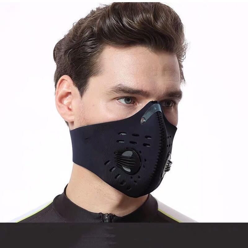 Face Anti Dust Pollution Mask Activated Carbon Anti bacterial Virus Filters Neoprene Air Pollution mouth Mask face Cover