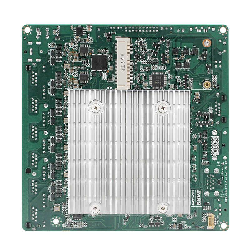 Безвентиляторный мини ПК тонкая материнская плата для тонкого клиента J1900 Процессор 6 * LAN Поддержка pfsense vpn-маршрутизатор