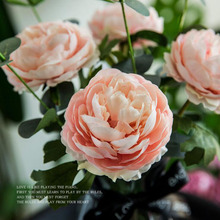 AVEBIEN 30cm High-Grade Single Branch Peony Artificial Flower Rose Wedding Decoration European Fake Photo Props
