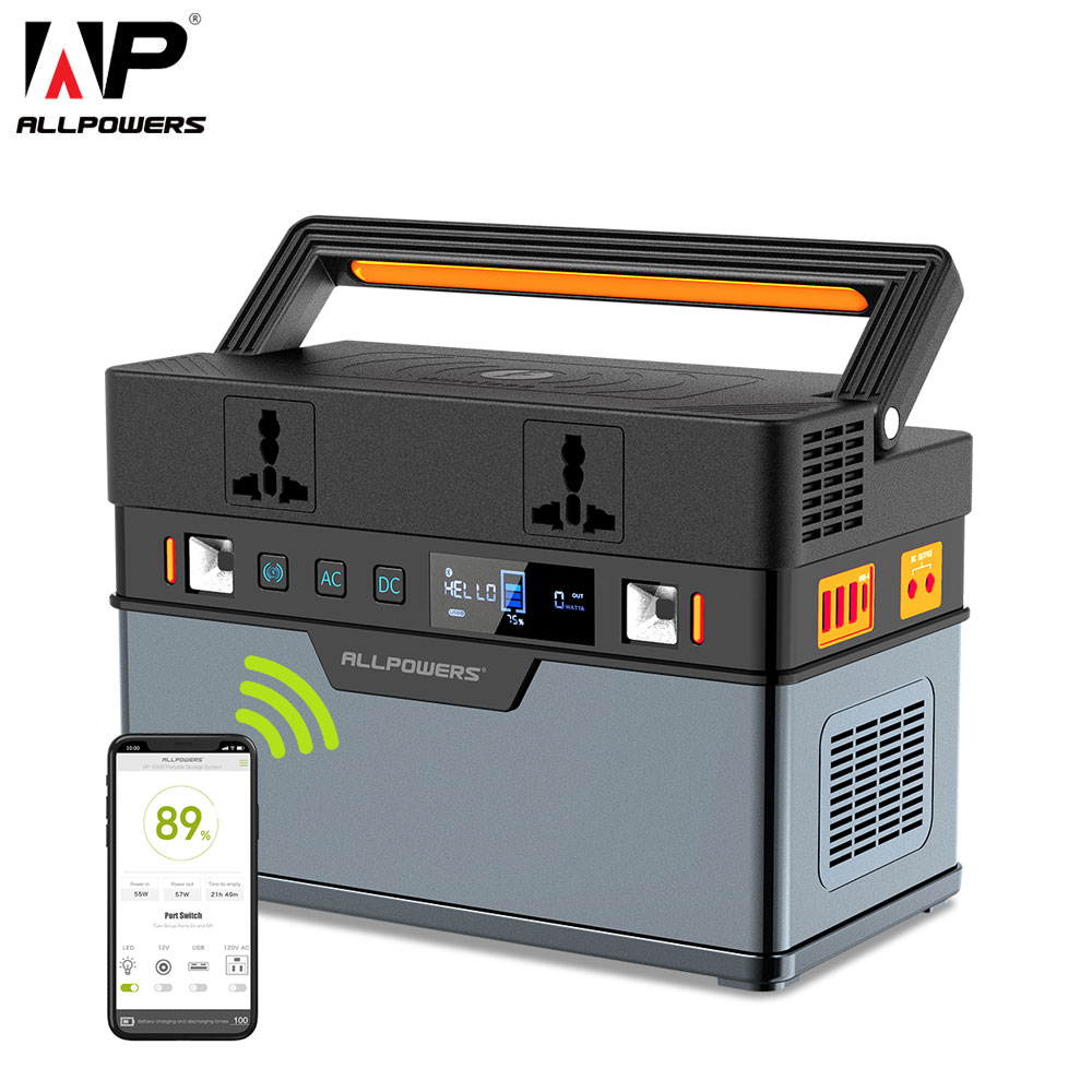 ALLPOWERS 110V 220V DC <font><b>AC</b></font> Power Bank 500W Reine Sinus Welle Inverter Tragbare Solar Camping Auto Power versorgung Generator Station image