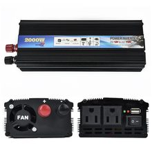 Universal Inverter Small Power Solar Converter 12V Turn to 110V /2000W, 24V to 110V /2000W US Regulations Car Accessories(China)