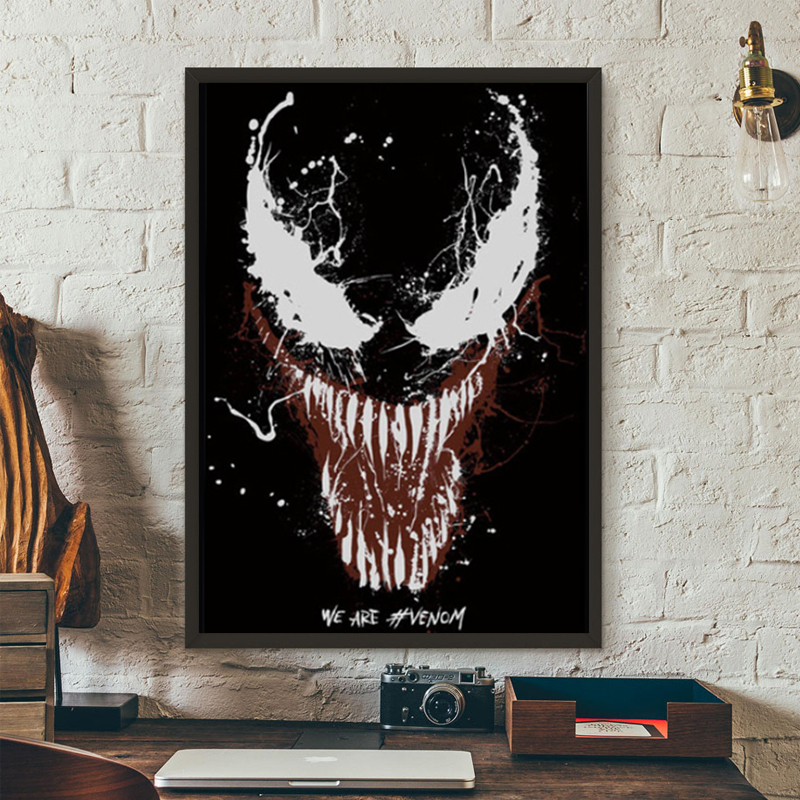 LZN Art Marvel Poster Print Painting Wall Deco Drawing Venom Movie Hero Tom Hardy Picture For Morden Living Room Home Decoration