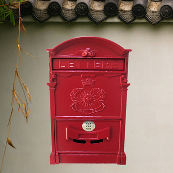 Vintage Metal Mailbox With Combination Lock Garden Ornament Coded Lock Letterbox Wall-mounted Lockable Post Box F5063