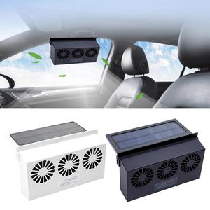 2 Colors 6th Generation Dual-mode Power Supply Car Solar Powered USB Exhaust Fan Auto Ventilation Fan Car Gills Cooler(China)