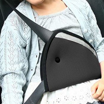 2pcs Child Car Safety Fit Seat Belt Triangle Shape Kids Car Seat Belt Adjuster Auto Safety Belt Cover Children Baby Neck Protect image