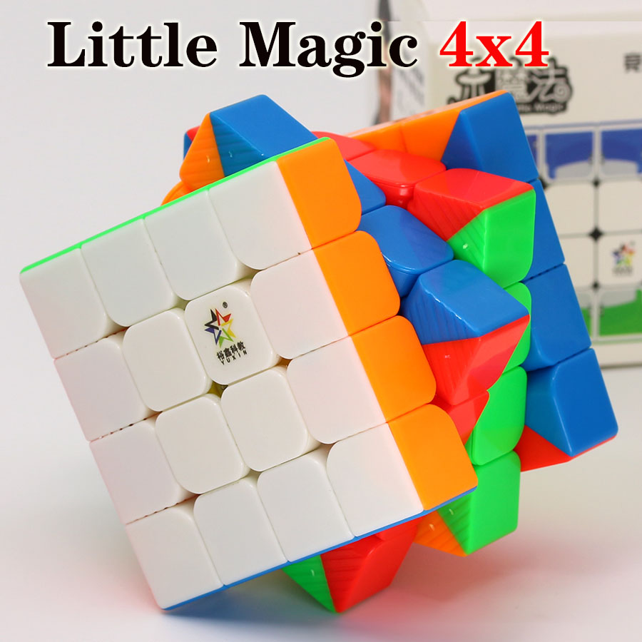 Magic Cube Puzzle YuXin Little Magic 4x4x4 4x4 Magnetic Cube Professional Speed Cube Educational  Twist Wisdom Toys Game Gift