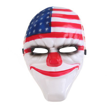 4pcs/lot Halloween Cosplay Payday 2 Mask Dallas/Wolf/Chains/Hoxton Horror Chainsaw Clown Masquerade Masks браслет hoxton
