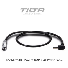 Tilta 12V Micro DC Male to BMPCC 4K Camera Power Cable for BMPCC 4K Battery Power Side Handles