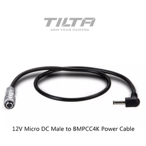 Image 1 - Tilta كابل طاقة لكاميرا 4K BMPCC ، بطارية بمقابض جانبية ، 12 فولت تيار مستمر ، ذكر إلى BMPCC