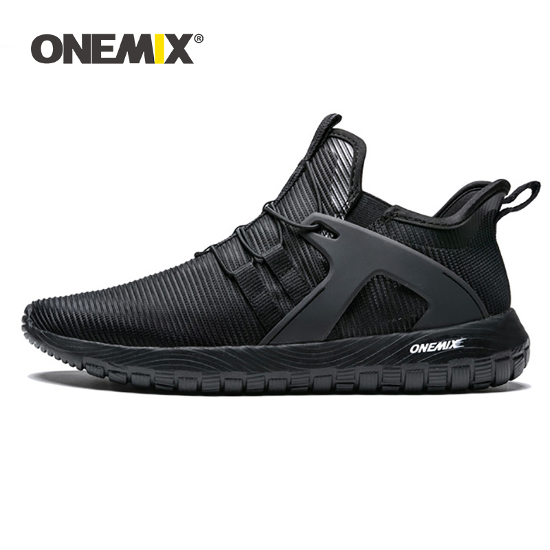 ONEMIX 2019 Men Running Shoes Men Sneakers Super Light High Elastic Soft Outsole For Outdoor Jogging Walking Shoes US 6.5-12.5