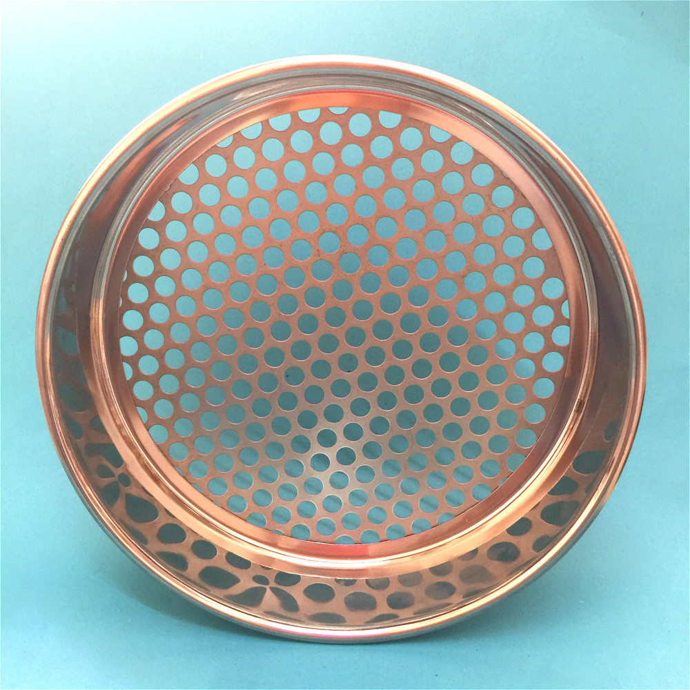 Horticultural Soil Sieve Blueberry Bodh Beads Sample Sieve Galvanized Round Hole Sieve Chroming Frame Dia 30cm Aperture 1mm-40mm