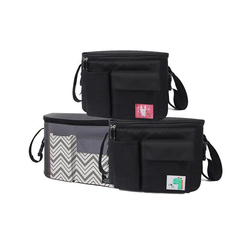 Baby Stroller Storage Bag Organizer Pram Buggy Pushchair Cup Diaper Bag Hanging