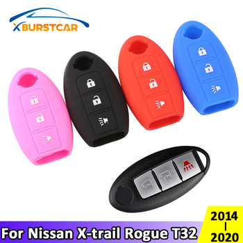 Xburstcar for Nissan X-trail Xtrail Rogue T32 2014 - 2020 Silica Gel Car Key Protection Cover Key Holder Case Accessories image