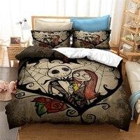 Neue Der Albtraum Vor Weihnachten Bettwäsche Set Cartoon Kinder Bett Bettwäsche Bettwäsche Bettbezug-set mit Kissenbezüge Au Eu Uns größe