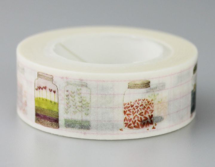 Heart Bottle Adhesive Washi Tape(1piece)