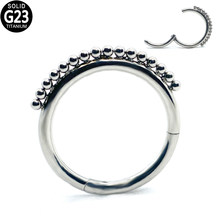 G23 sfera di titanio incernierato cerchio setto Clicker naso segmento anello capezzolo orecchio cartilagine elica labbro perno naso Piercing gioielli