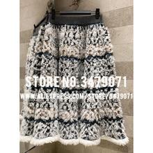 Изготовленная на заказ пряжа тканая Снежинка половина-длина Ретро Женская юбка Уличная одежда эластичная талия юбка вязальный Зонт юбка