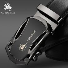 Мужской деловой ремень NO.ONEPAUL, черный повседневный кожаный ремень с автоматической пряжкой, 2019