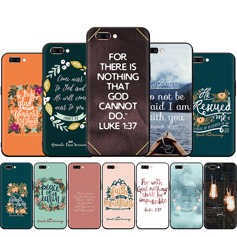 Bible of Jesus Christian Silicone Phone <font><b>Case</b></font> for <font><b>OPPO</b></font> R17 R15 <font><b>F11</b></font> F9 <font><b>Pro</b></font> A77 R9s F9 F7 A73 A83 A59 A39 A5 K3 K5 image