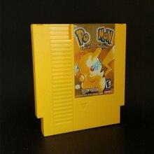 Poke Yellow Version or Final Retro Game Fantasy VII 7 English Language Top quality PCB Game Card   72 pins 8bit game cartridge