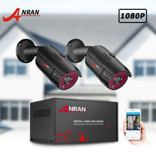 ANRAN CCTV Camera System 2CH 1080P AHD Camera Kit H.265 DVR Video Surveillance System Waterproof Outdoor IP Security Camera Kit