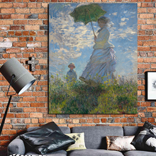 Claude Monet Girl With Umbrella Wall Art Canvas Painting Posters Prints Modern Painting Wall Pictures For Living Room Home Decor claude monet in summer canvas painting prints living room home decoration modern wall art oil painting posters pictures artwork