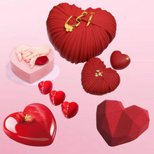 Meibum Non-Stick Heart Shaped Silicone Cake Molds Valentine's Day Pastry Moulds Mousse Dessert Baking Tools Kitchen Bakeware