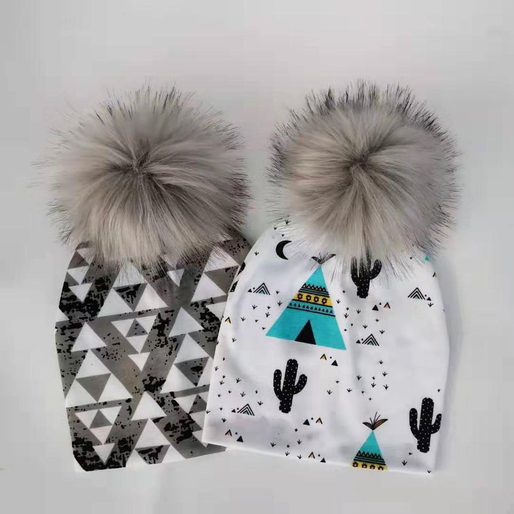 Fashion Newborn Baby Children Hat Cap For Girls Pompom Baby Born Care Infant Toddler Hats Bonnet Skullies Beanies For Kids Boys