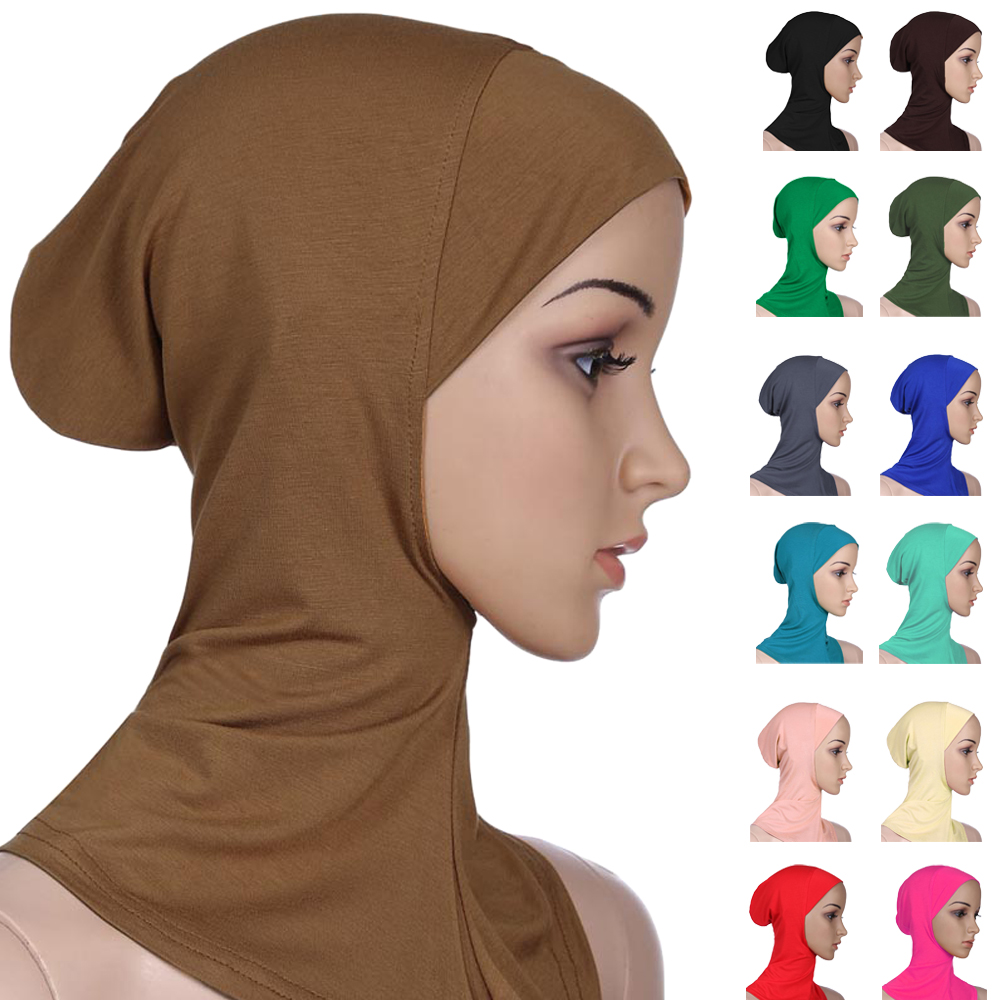 Soft Muslim Full Cover Inner Women Hijab Bone Bonnet Cap Islamic Underscarf Neck Head Bonnet Hat Islamic Head Wear Neck Cover