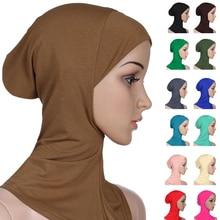 Yumuşak müslüman tam kapak iç kadın başörtüsü kemik kaput kap islam Underscarf boyun baş kaput şapka İslam baş aşınma boyun kapak