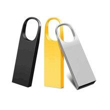 Pen drive flash usb 3.0 disco de armazenamento de metal à prova d64 água pendrive memória 64gb 32gb 16gb flashdrives 8gb sobre 10 pces logotipo livre
