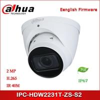 Dahua kamera IP IPC HDW2231T ZS S2 2MP WDR IR gałki ocznej kamera sieciowa wsparcie POE starlight ulepszona wersja IPC HDW2231R ZS w Kamery nadzoru od Bezpieczeństwo i ochrona na