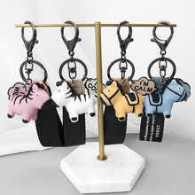 2019 New silicone Key Chains head cover Keychain cat case hamster Shih Tzu Pug dog animal lovely shape jewelry Gift