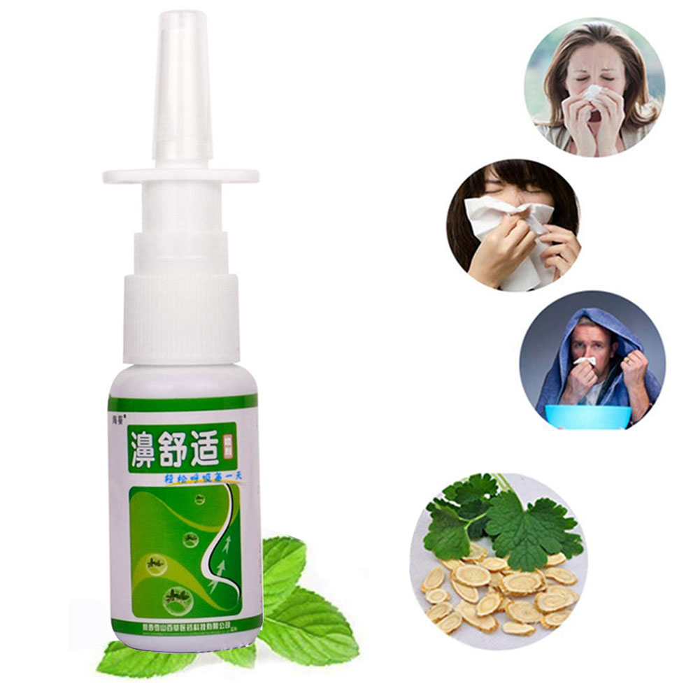 20ml Sinusitis Health Care Nasal Congestion Itch Nose Rhinitis Chronic Herb Spray Medical Relief
