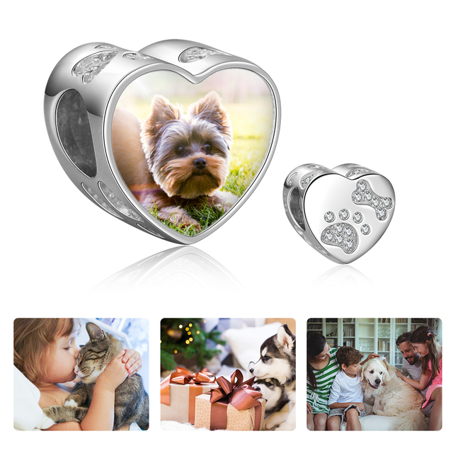 Customized Photo with Zirconia Pet Charms