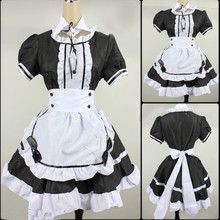 Cosplay Costume Maid-Dress Amine Party Lolita French Girls Black Woman Cute Stage