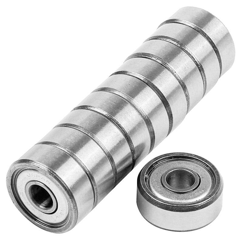 Quality 10pcs Miniature Sealed Metal Shielded Metric Radial Ball Bearing Model: 604 ZZ 4x12x4MM