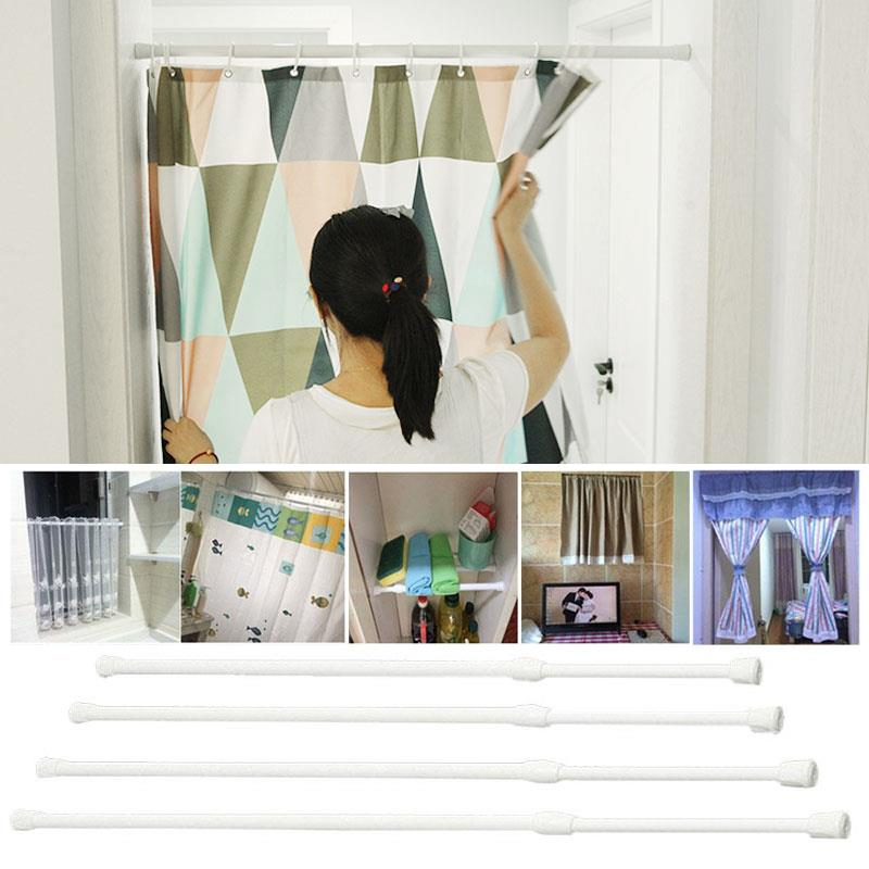 Spring Telescopic Voile Tension Curtain Curtain Rail Loaded Shower Pole Rod