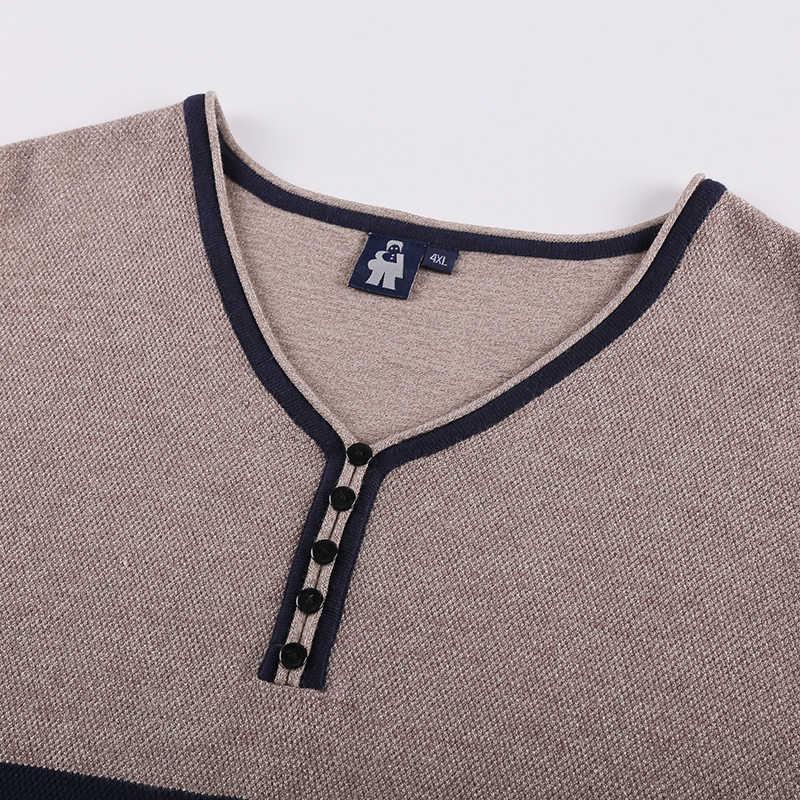 10XL 8XL 6XL 5XL 4XL 남성 남성 패션 혼합 색상 스웨터 남성 레저 느슨한 당겨 옴므 v 넥 긴팔 스웨터 솔리드