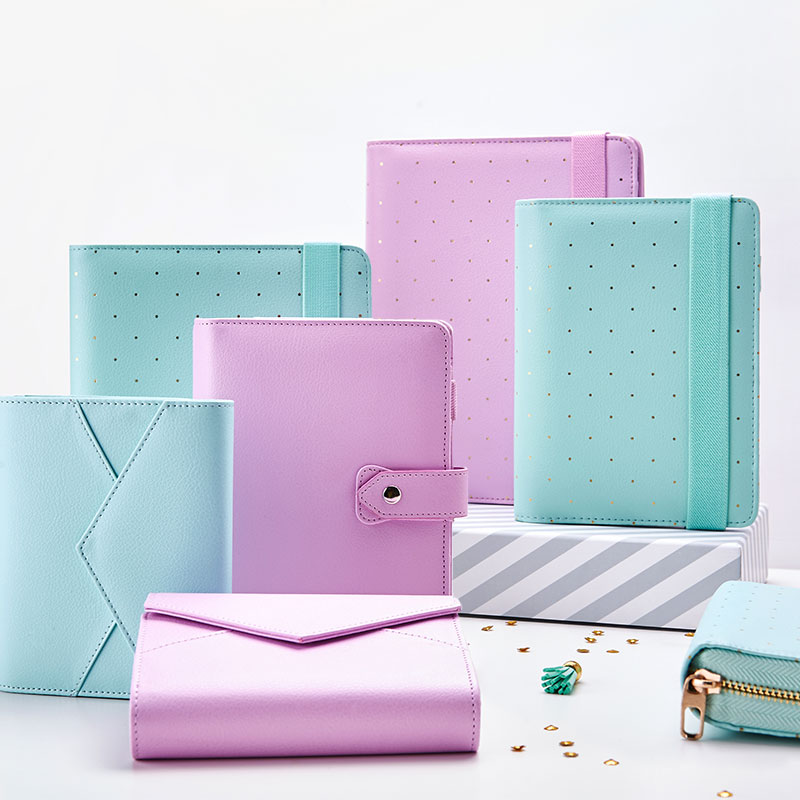 Lovedoki A5 Leather Notebook Mint A6 Bullet Journal Spiral Planner Cute Zipper Case Book Diary Agenda Organizer Gift School