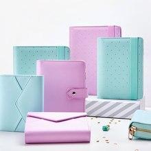 Lovedoki A5 Leather Notebook Mint A6  Journal Spiral Planner Cute Zipper Case Book Diary Agenda Organizer Gift School