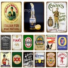 Tin Sign Poster Kraken Decorative Whiskey Club Beer Plaque Vintage Metal Man Pub Bar