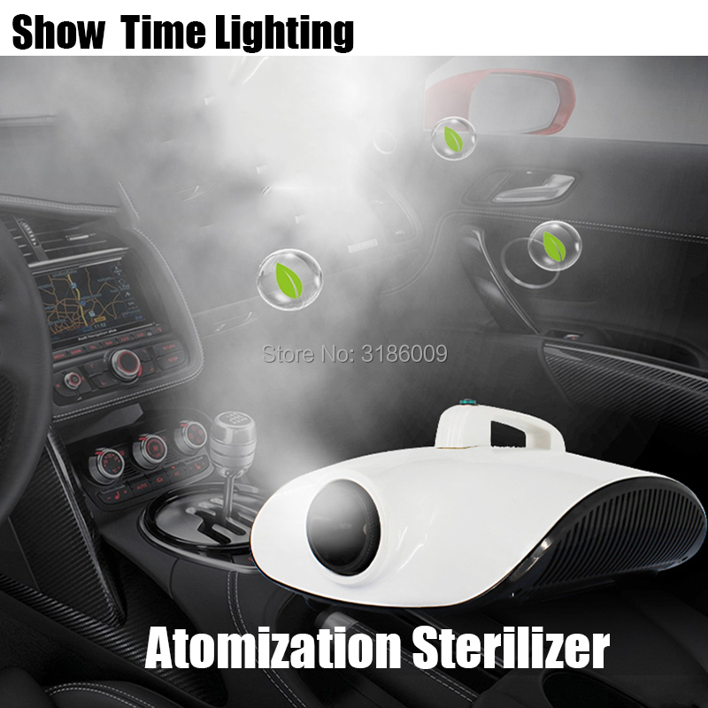 New Arrival Portable Car Atomization Sterilizer Kill Virus Remove Peculiar Smell 1500W Fog Machine Good Use For Car Room Office