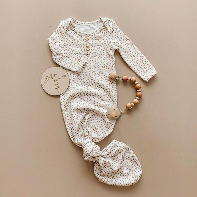 Newborn Baby Boy Girl Autumn Clothes Romper Bodysuit Sleepwear Pyjamas Sleepsuit