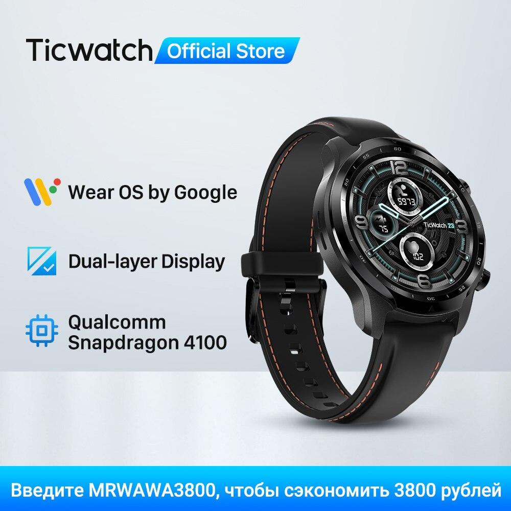 Введите MRWAWA3800, чтобы сэкономить 3800 рублей Смарт-часы TicWatch Pro 3 с GPS, мужские спортивные часы, двухслойный дисплей, Snapdragon Wear 4100, 8 Гб ROM, 3 ~ 45 дней а...