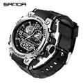 SANDA 2021 Top Marke männer Uhren 5ATM Wasserdichte Sport Military Armbanduhr Quarz Uhr für Männer Uhr Relogio Masculino 6024
